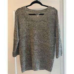 Wilfred Italian Yarn open knit grey sweater
